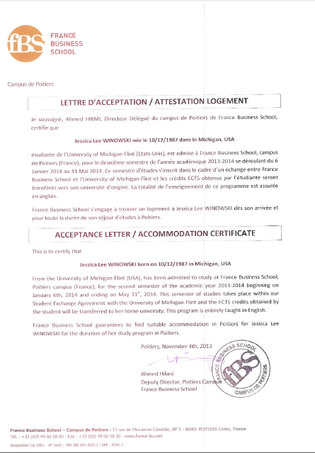 acceptance of rental application letter